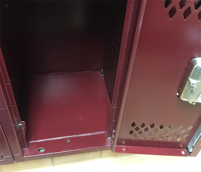 Water Damage in School Lockers After